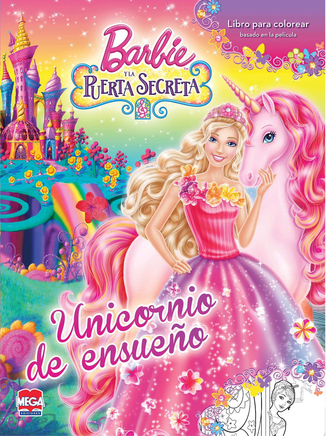 Barbie y la puerta secreta. Libro para colorear - Larousse México