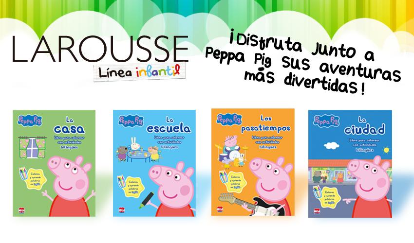 Peppa pig, libros Bilingües